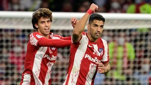 Joao Félix y Luis Suarez, jugadores del Atlético de Madrid