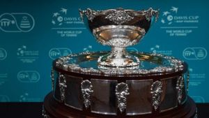 El trofeo de Copa Davis