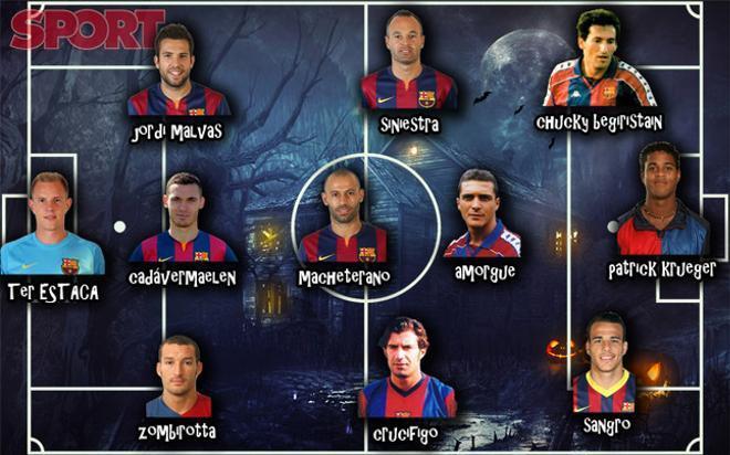 El posible once histórico de Halloween del FC Barcelona