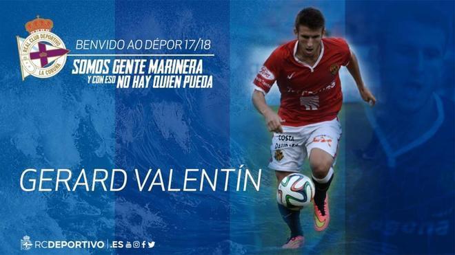 Gerard Valentí, nuevo fichaje del Depor