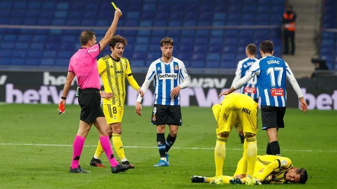 El Espanyol es el que menos amarillas ve