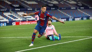 El gol de Sergio León con el que el Barça se despide de LaLiga