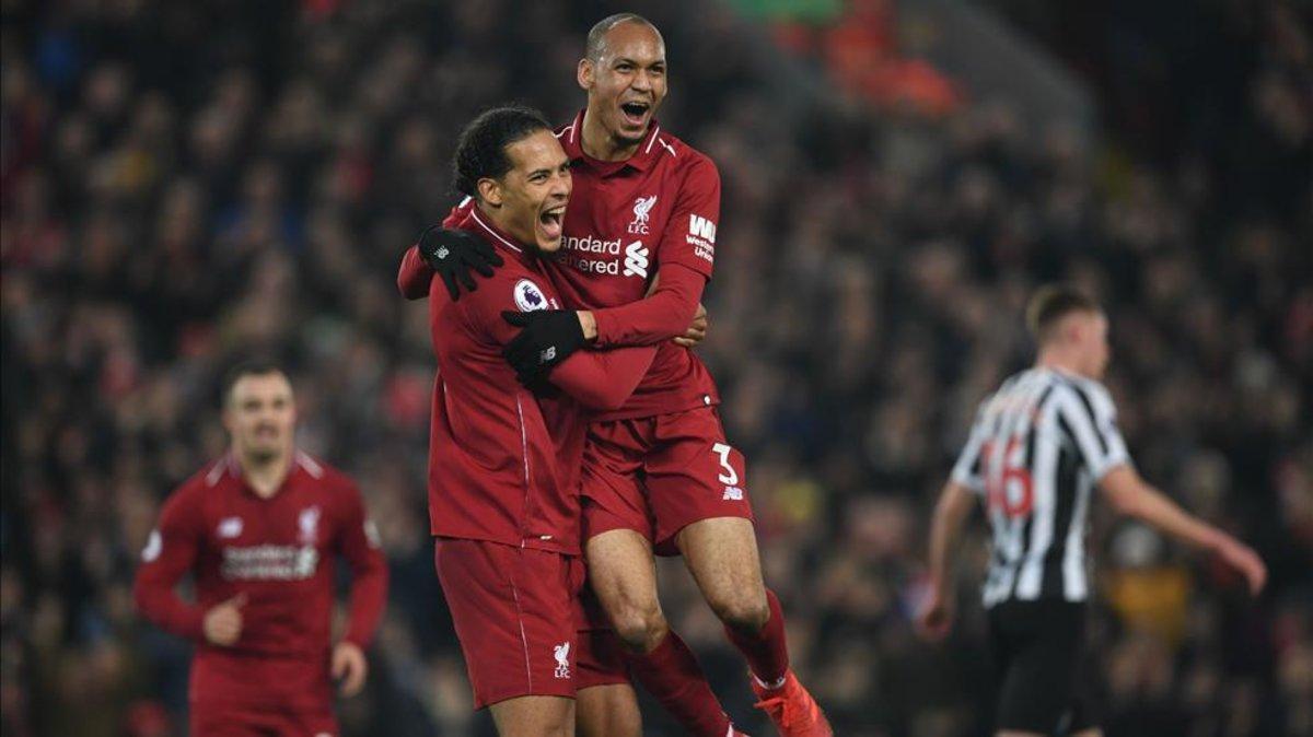 Fabinho, con el Liverpool