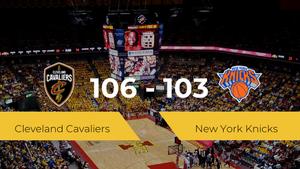 Cleveland Cavaliers logra la victoria frente a New York Knicks por 106-103