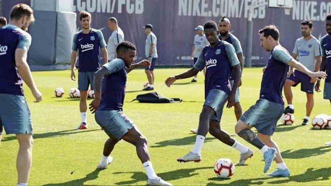 El Barcelona prepara el partido ante el Girona