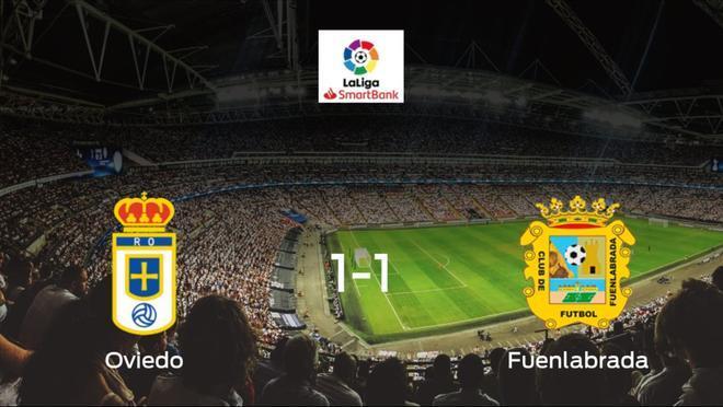 Empate a uno entre el Real Oviedo y el CF Fuenlabrada