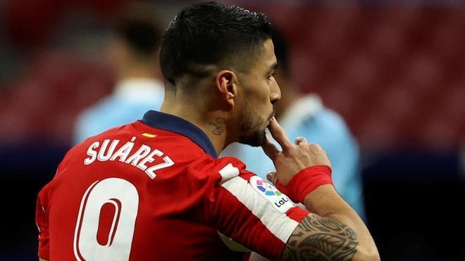 Luis Suárez, el máximo goleador en el Atlético de Madrid