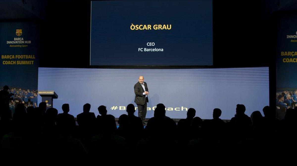 Òscar Grau presentó la Barça Sports Tech Week
