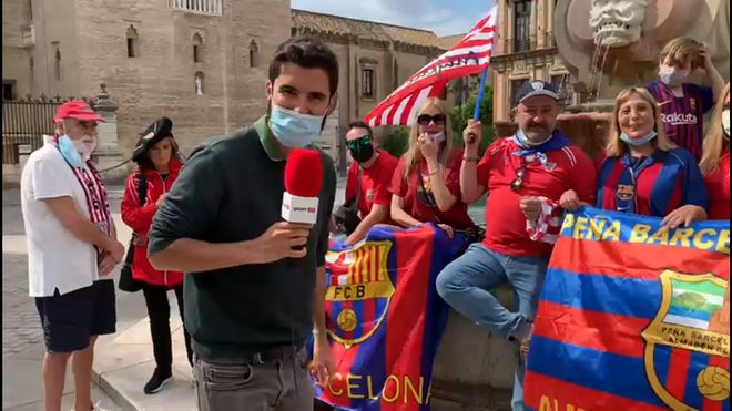 Así está el ambiente en Sevilla a 24h de la final de la Copa del Rey
