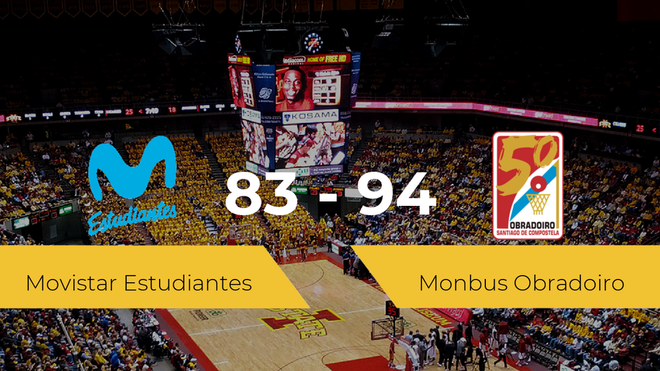 El Monbus Obradoiro derrota al Movistar Estudiantes (83-94)