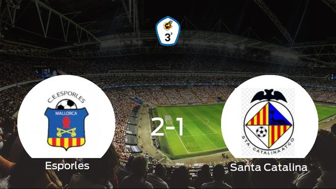 El Esporles consigue la victoria en casa frente al Santa Catalina Atlético (2-1)