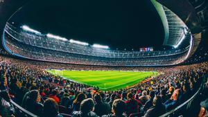 El Camp Nou, lleno