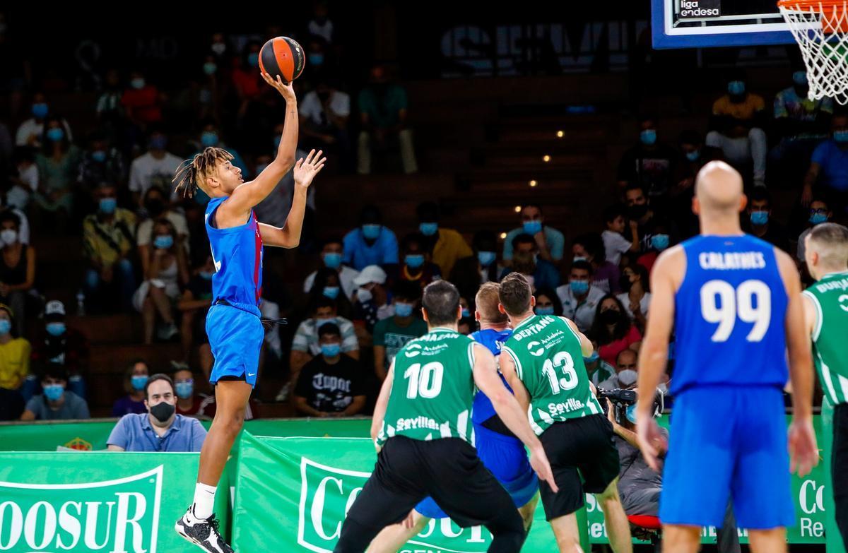 Caicedo tuvo su oportunidad y anotó sus dos primeros puntos con el primer equipo blaugrana