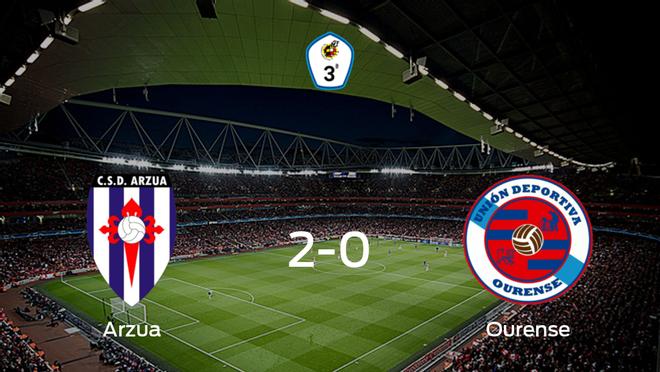 El CSD Arzua consigue la victoria en casa ante el Ourense (2-0)