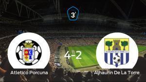 El Atletico Porcuna gana 4-2 al Alhaurín De La Torre en el Estadio Municipal San Benito