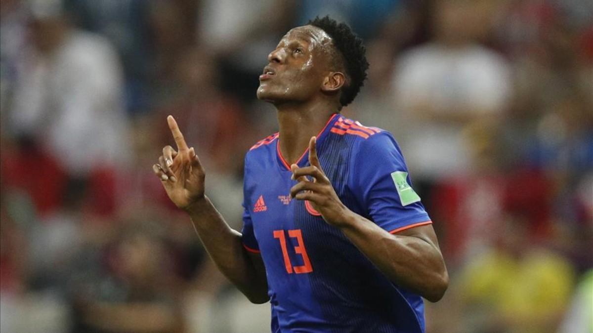 El culé Yerry Mina abrió la goleada colombiana