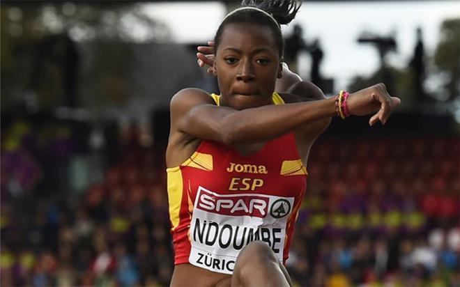 Ndoumbe, cuarta en la final de triple salto