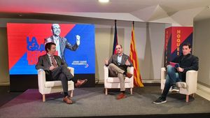 Jordi Farré, junto a Albert Vilalta y Àlex Angosto