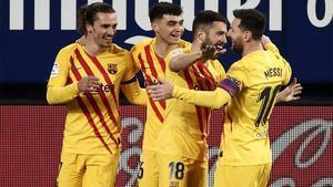 Así fue la victoria del FC Barcelona en El Sadar