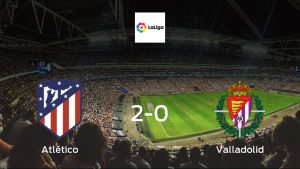 Atlético Madrid celebrate 2-0 victory against Valladolid