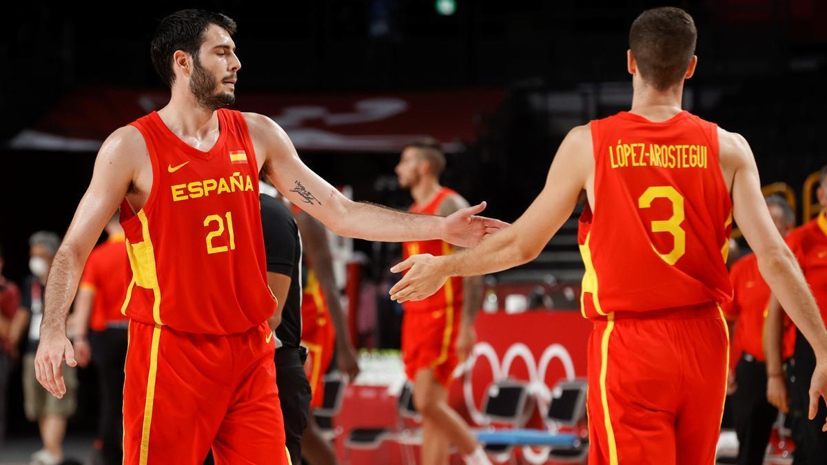 La selección española de baloncesto masculino durante los Juegos Olímpicos de Tokio 2020