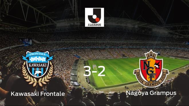 El Kawasaki Frontale consigue la victoria en casa frente al Nagoya Grampus (3-2)