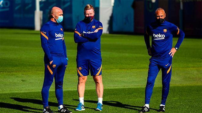 Koeman entrena al equipo a la espera de la llegada de todos los internacionales