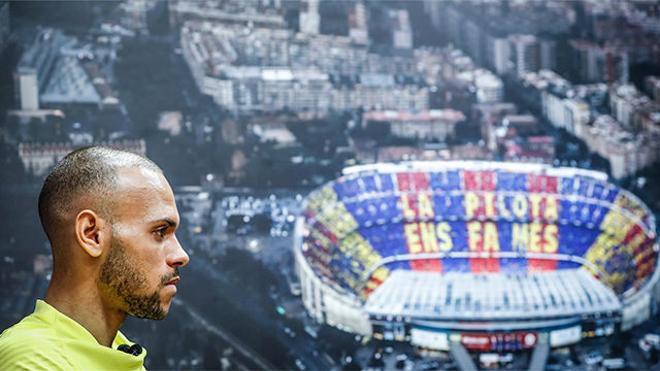 Braithwaite: Siento que en el Barça he encontrado mi sitio