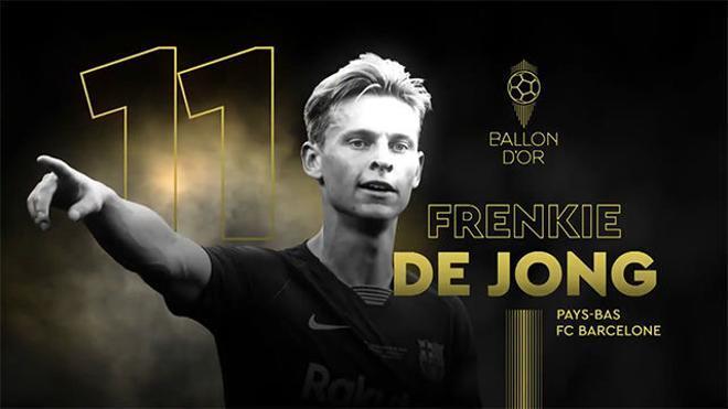 De Jong se queda fuera del Top Ten del Balón de Oro