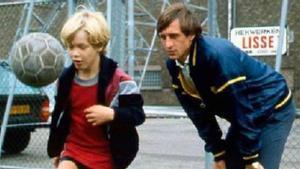 Johan Cruyff con un pequeño Jordi Cruyff