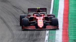 Sainz en el circuito de Imola