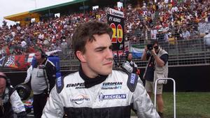 Un joven Alonso, con Minardi en Australia 2001