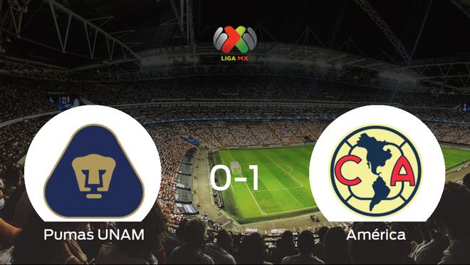 El América se queda con los tres puntos después de derrotar 0-1 al Pumas UNAM