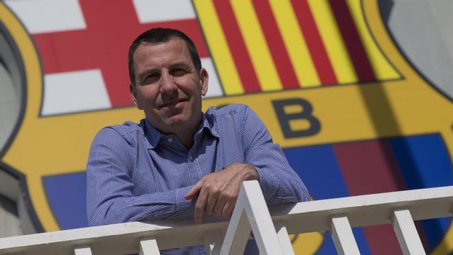 Nacho Rodríguez en las instalaciones del club