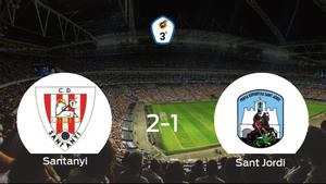 El Santanyi consigue la victoria en casa frente al PE Sant Jordi (2-1)