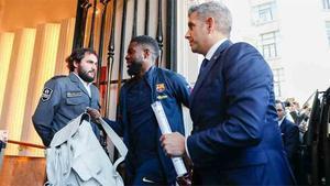 Umtiti y Abidal ya están en Bilbao