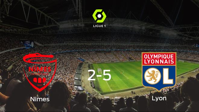 El Olympique Lyon se lleva los tres puntos a casa tras golear al Olimpique de Nimes (2-5)