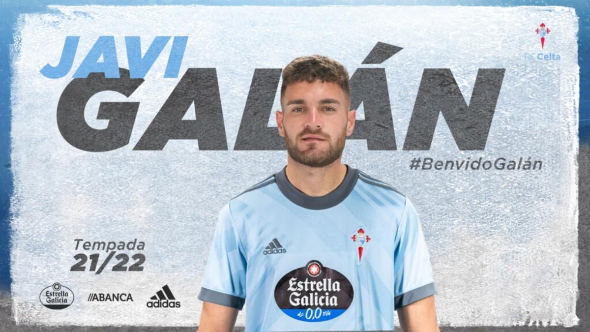 Javi Galán, nuevo jugador del Celta