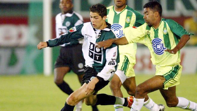 Cristiano Ronaldo, durante su etapa en el Sporting