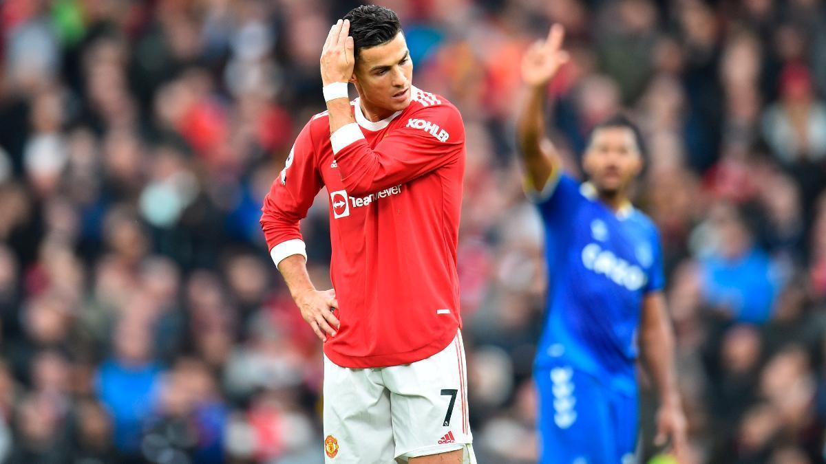 Cristiano Ronaldo tras el partido del Manchester United ante el Everton
