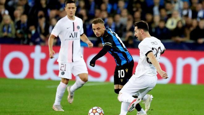 El PSG estrena tridente con un pírrico empate en Bélgica
