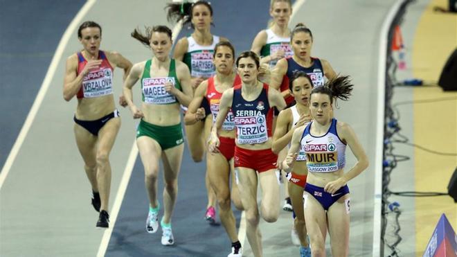 Imagen de archivo de los Europeos de Atletismo en pista cubierta de 2019