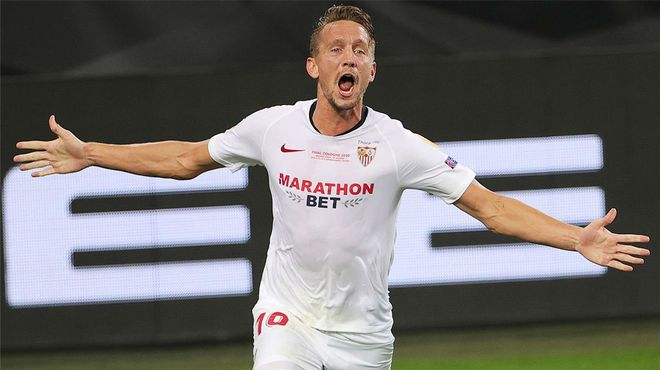 El doblete de Luuk de Jong a base de cabezazos para guiar al Sevilla a su sexta Europa League