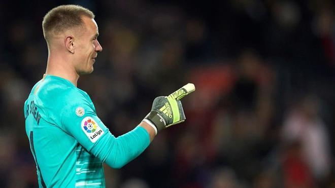Ter Stegen defenderá la portería del Barça ante el Real Madrid