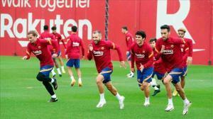 Así ha sido el entrenamiento del Barça antes de recibir al Real Madrid