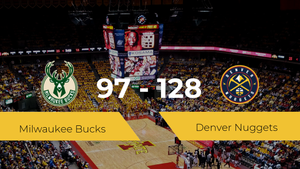 Victoria de Denver Nuggets ante Milwaukee Bucks por 97-128