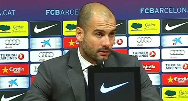 Guardiola elogió la entrega de sus jugadores