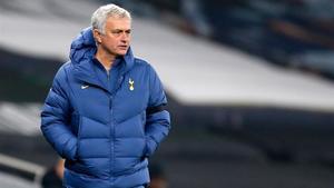 José Mourinho en un partido con el Tottenham