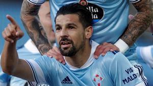 Nolito es una de las bazas ofensivas de un Celta que busca la victoria en el Camp Nou