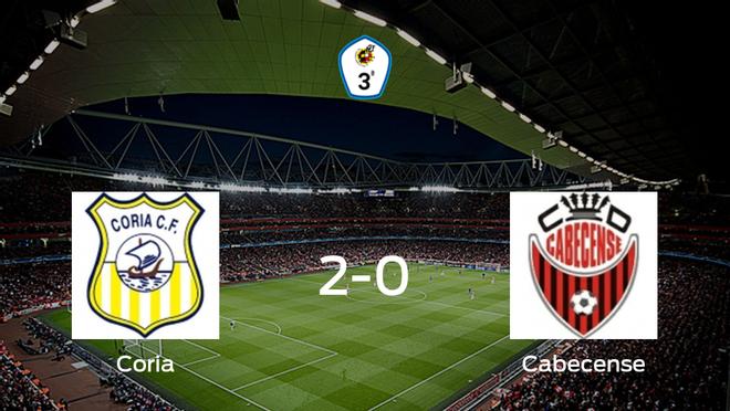 El Coria consigue la victoria ante el Cabecense (2-0)